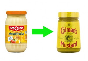 use mustard instead of mayonnaise